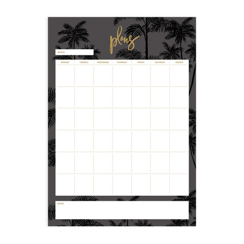 Night Palms A4 Notepad Refill