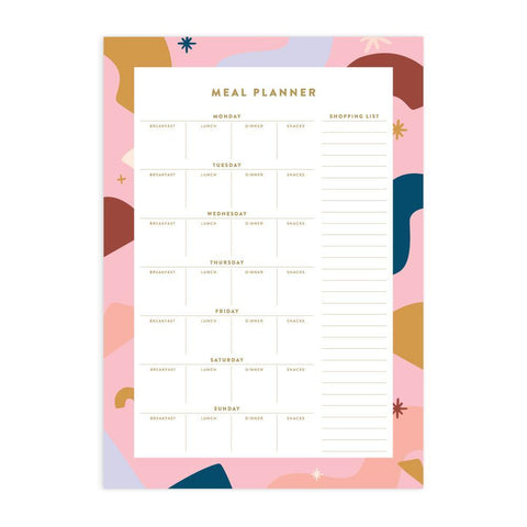 Abstract A4 Meal Planner Notepad