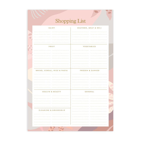 Arcadia A5 Shopping List Magnet Notepad