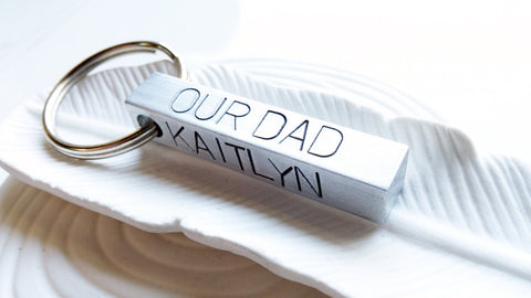 4 Sided Bar Keychain | Your Text