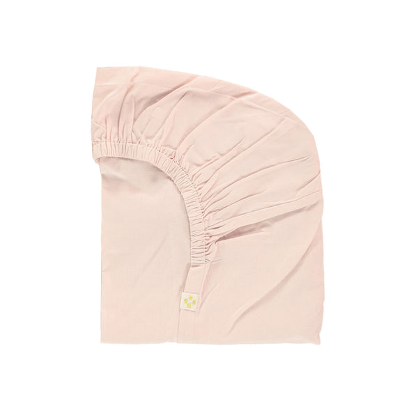 organic cotton fitted sheet in soft pink by camomile london