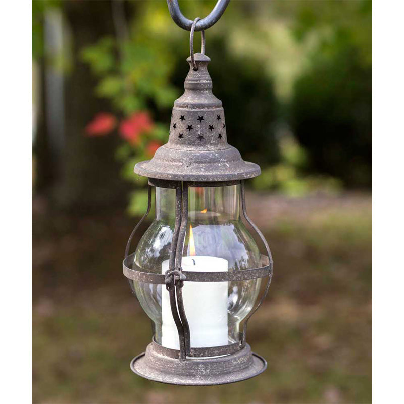 Hatteras Candle Lantern - Metal and Glass