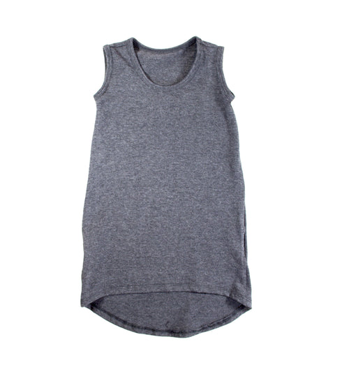 Girls Heather Gray Tank Maxi Dress - LITTLE FOOT CLOTHING CO.