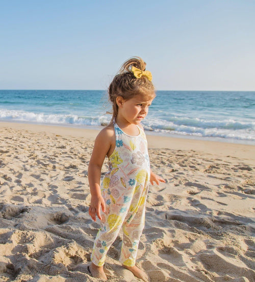 Girls floral halter romper - 5 options - LITTLE FOOT CLOTHING CO.