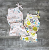 GIRLS SHORTS JUMP SUIT - 4 OPTIONS - LITTLE FOOT CLOTHING CO.