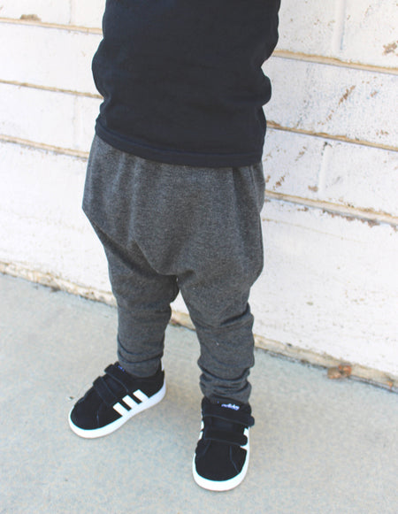 UNISEX BLACK HAREM PANTS