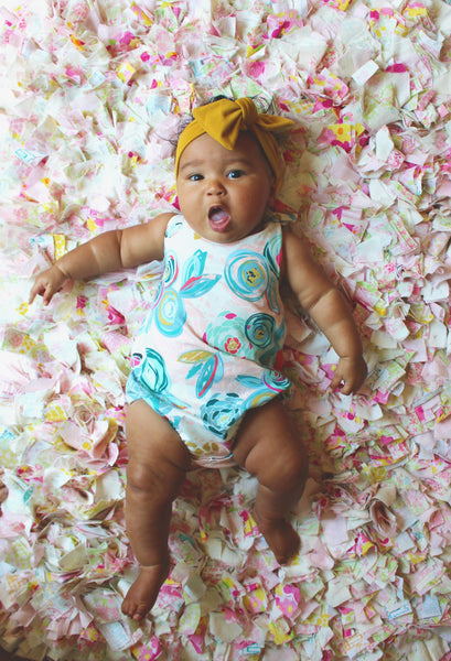 Girls floral bubble romper - 6 options - LITTLE FOOT CLOTHING CO.
