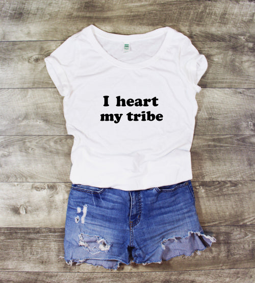 I HEART MY TRIBE SCOOP NECK - MORE COLORS - LITTLE FOOT CLOTHING CO.