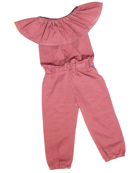 GIRLS OFF THE SHOULDER JUMP SUIT - 4 OPTIONS - LITTLE FOOT CLOTHING CO.