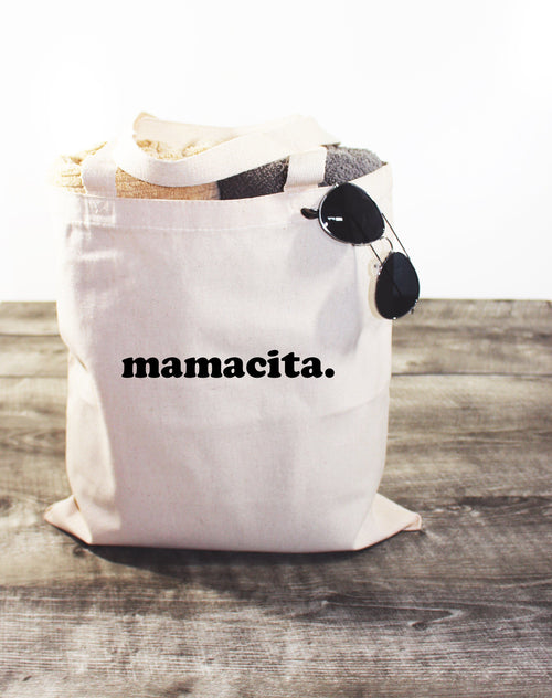 MAMACITA - CANVAS TOTE BAG - LITTLE FOOT CLOTHING CO.