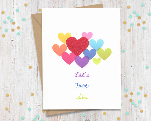 Let's have sex - funny greeting card