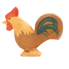 Brown Rooster Wooden Animals Ostheimer