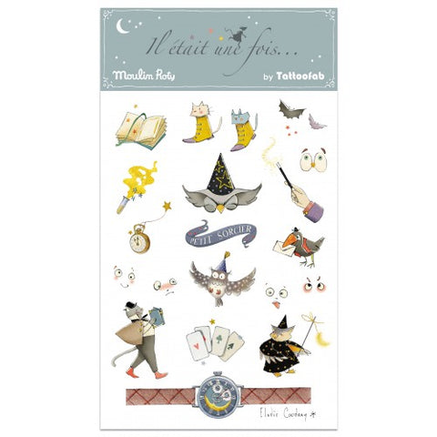 Little Wizard Temporary Tattoos- by Moulin Roty