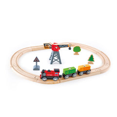 Cargo Delivery Loop Wooden Railway Train Set by Hape