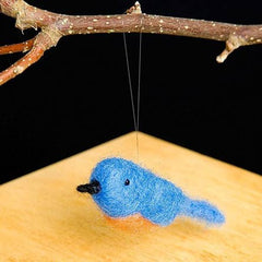 Blue bird dry felting kit by Woolpets
