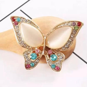 Butterfly Assorted Rhinestones Gold Bling Flatback Cabochon Alloy Metal Decoden