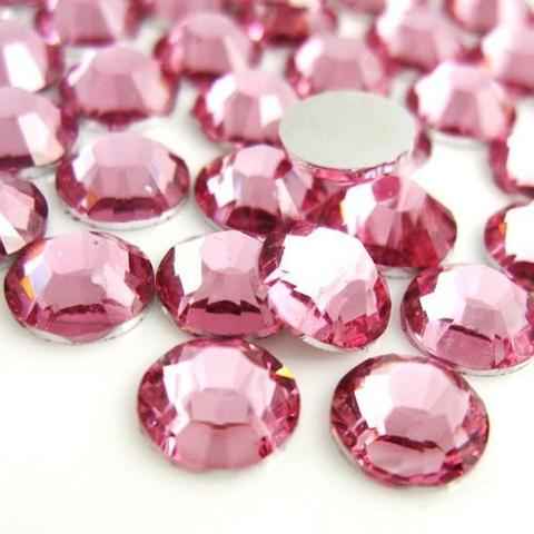 5mm Pink Resin Round Flat Back Loose Rhinestones