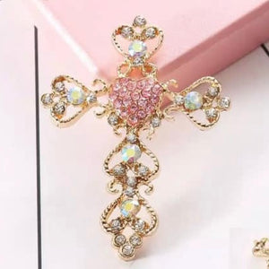 Cross Rhinestone Gold Alloy Cell Phone Decoration Flatback Decoden