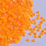5mm Neon Orange AB Jelly Resin Round Flat Back Loose Rhinestones