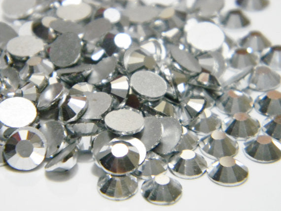 Silver Crystal Glass Rhinestone - SS12, 1440 pieces - 3mm Flatback, Round, Loose Bling - TheDecoKraft - 1