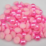 2mm Bubble Gum Pink Resin Round Flat Back Loose Pearls - 10000pcs