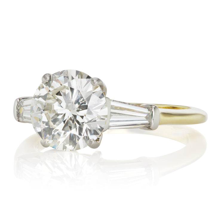 Tiffany Round Diamond Engagement Ring With Tapered