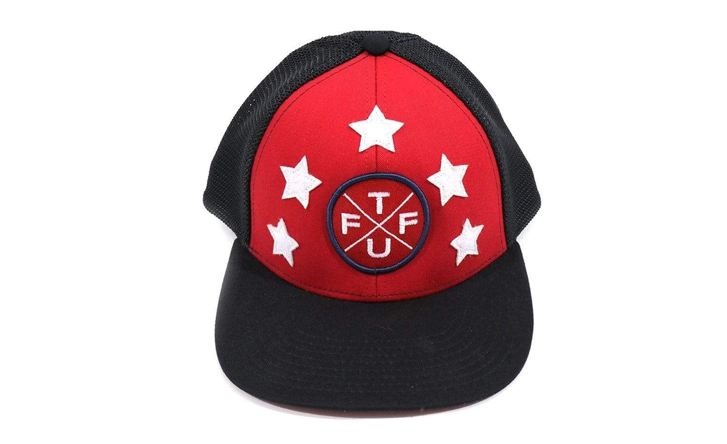 TUFF 5-Star Trucker Hat - Blue/Red Blue/Red TuffWraps.com