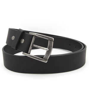 ROY Men's Leather Belt – Black-Rimanchik