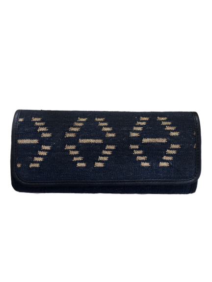 Hand Woven Clutch in Black and Gold