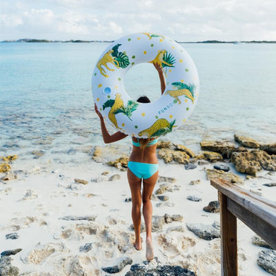 2019 Collection - Luxury Pool Floats - Tropical Cheetah Tube