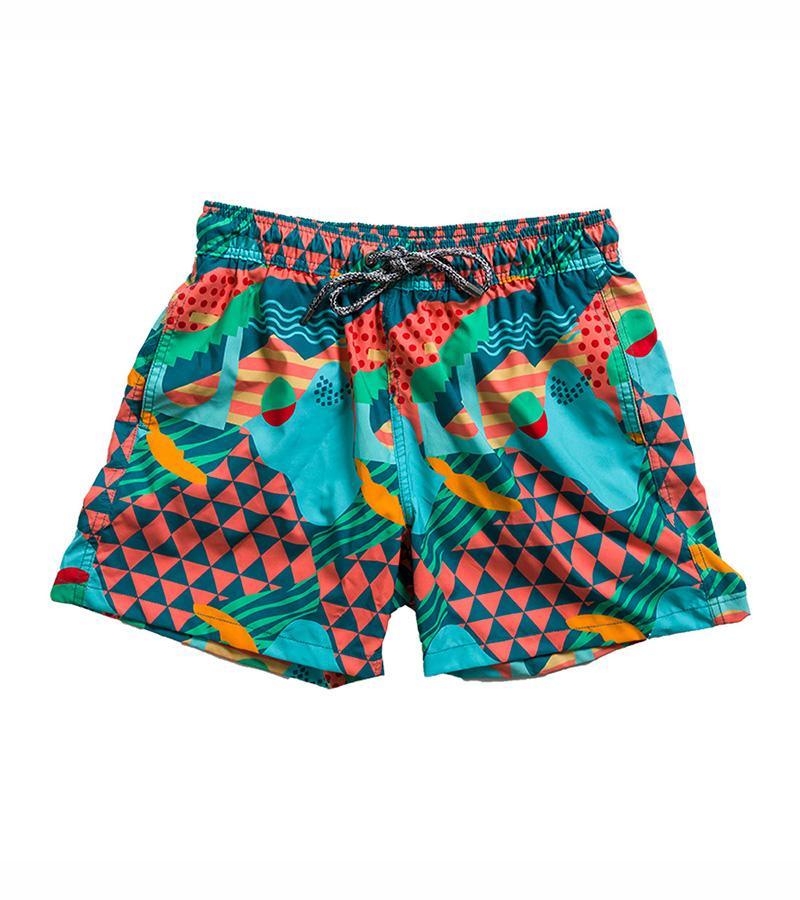 FUNBOY X Pangea Men's Swim Trunks: Disco Summer