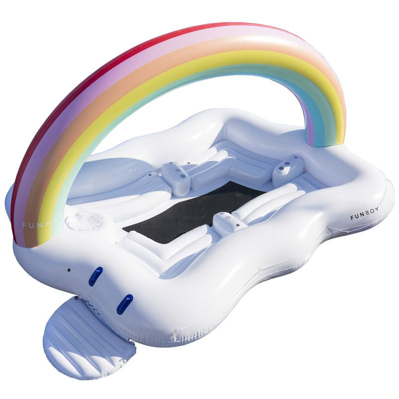Giant 6 Person Rainbow Cloud Island Float