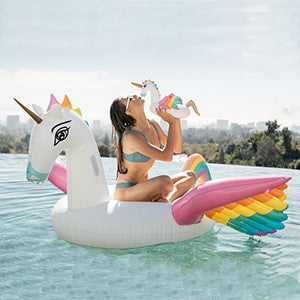 Rainbow Unicorn Drink Holder Float