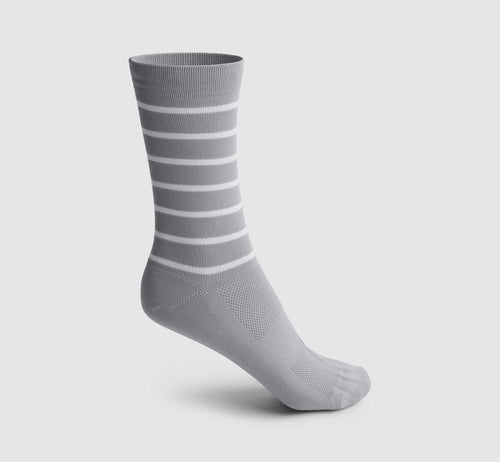 Stripes Socks Grey/White