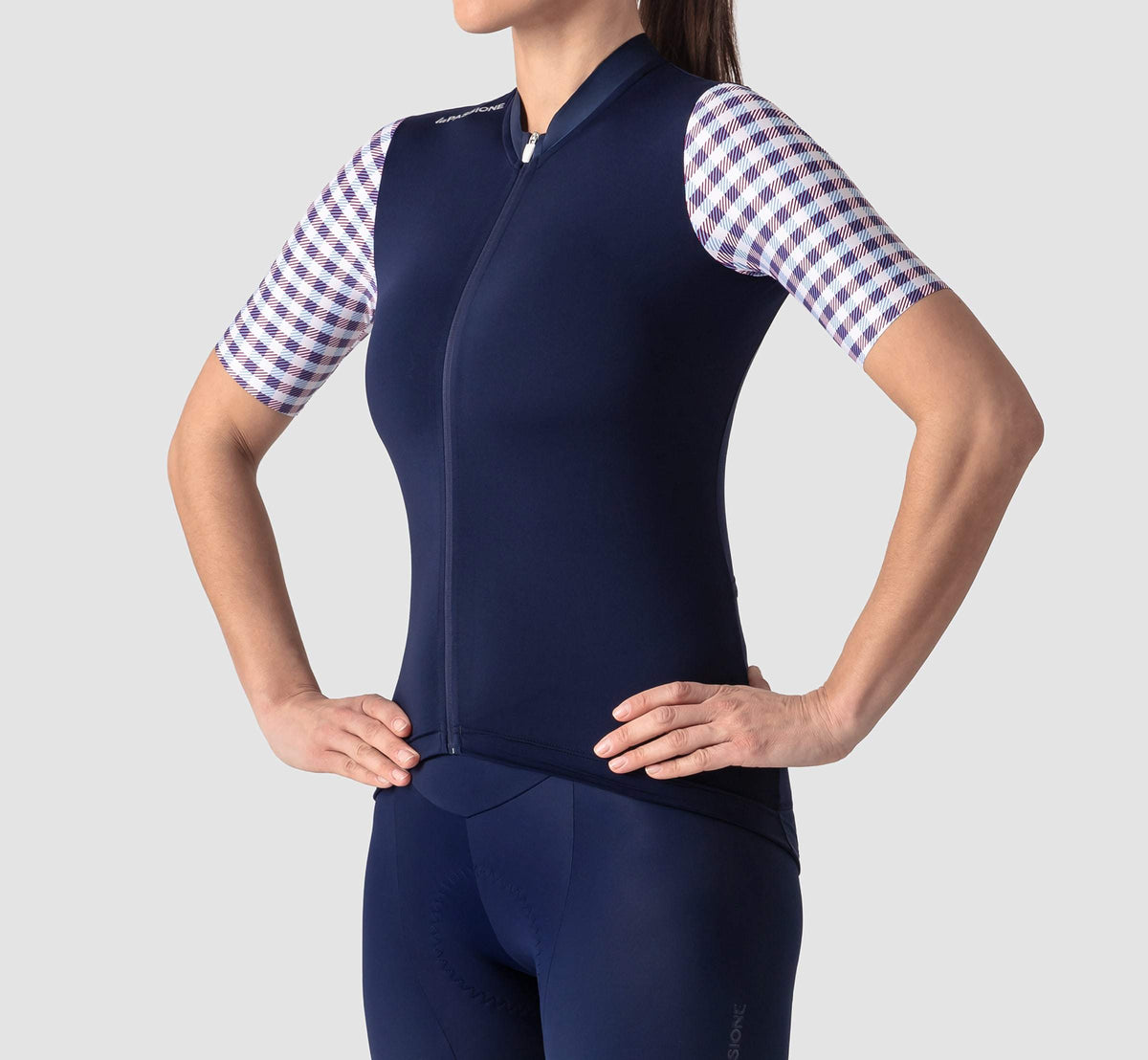 MNL Jersey Vichy Blue Woman