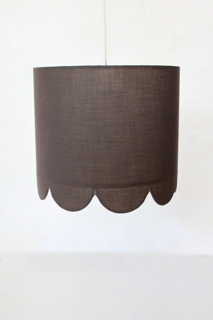 Grey Scallop Inside Out Pendant Lamp