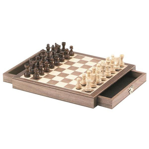 10 inch Walnut Magnetic Chess Set