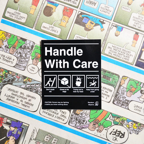 """HANDLE WITH CARE"" STICKER"