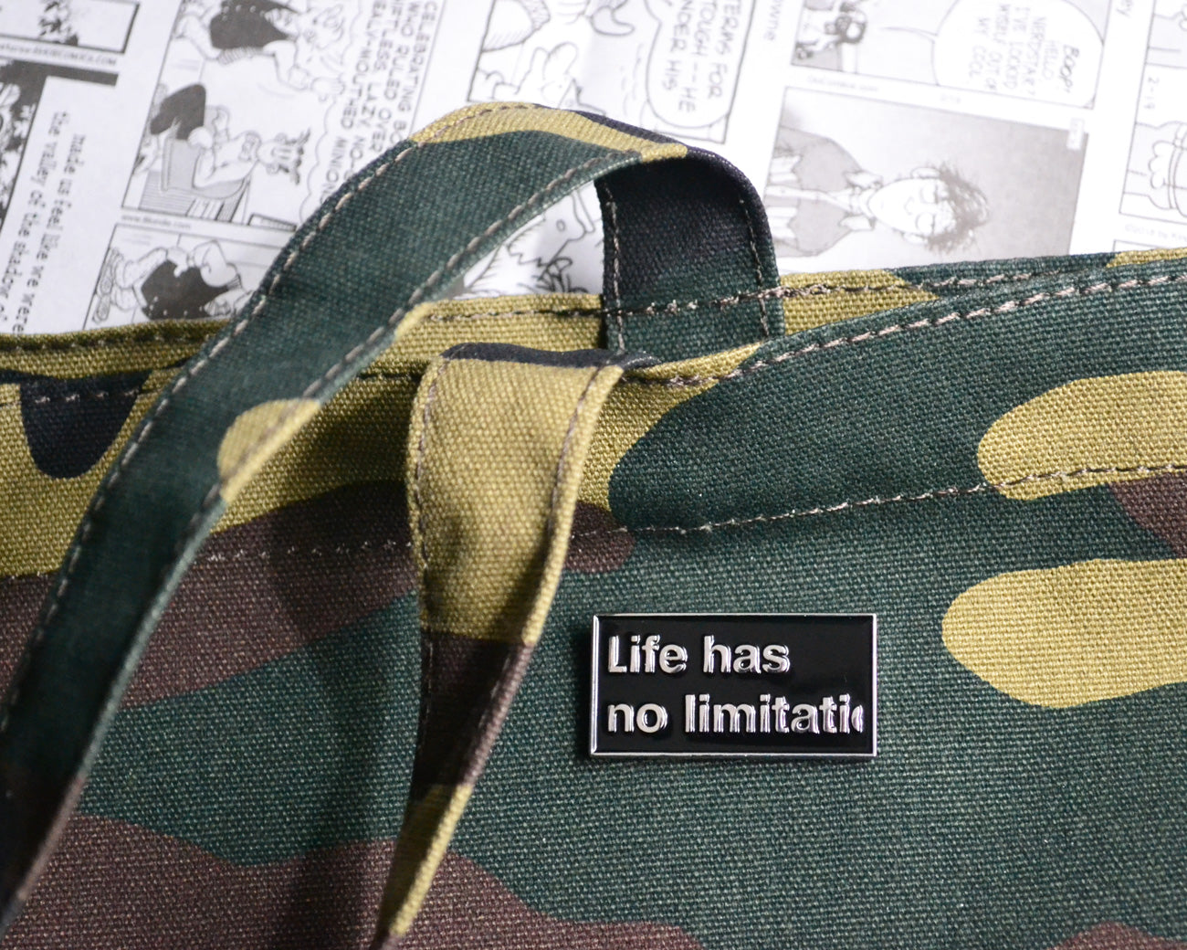 """NO LIMITATION"" ENAMEL PIN"