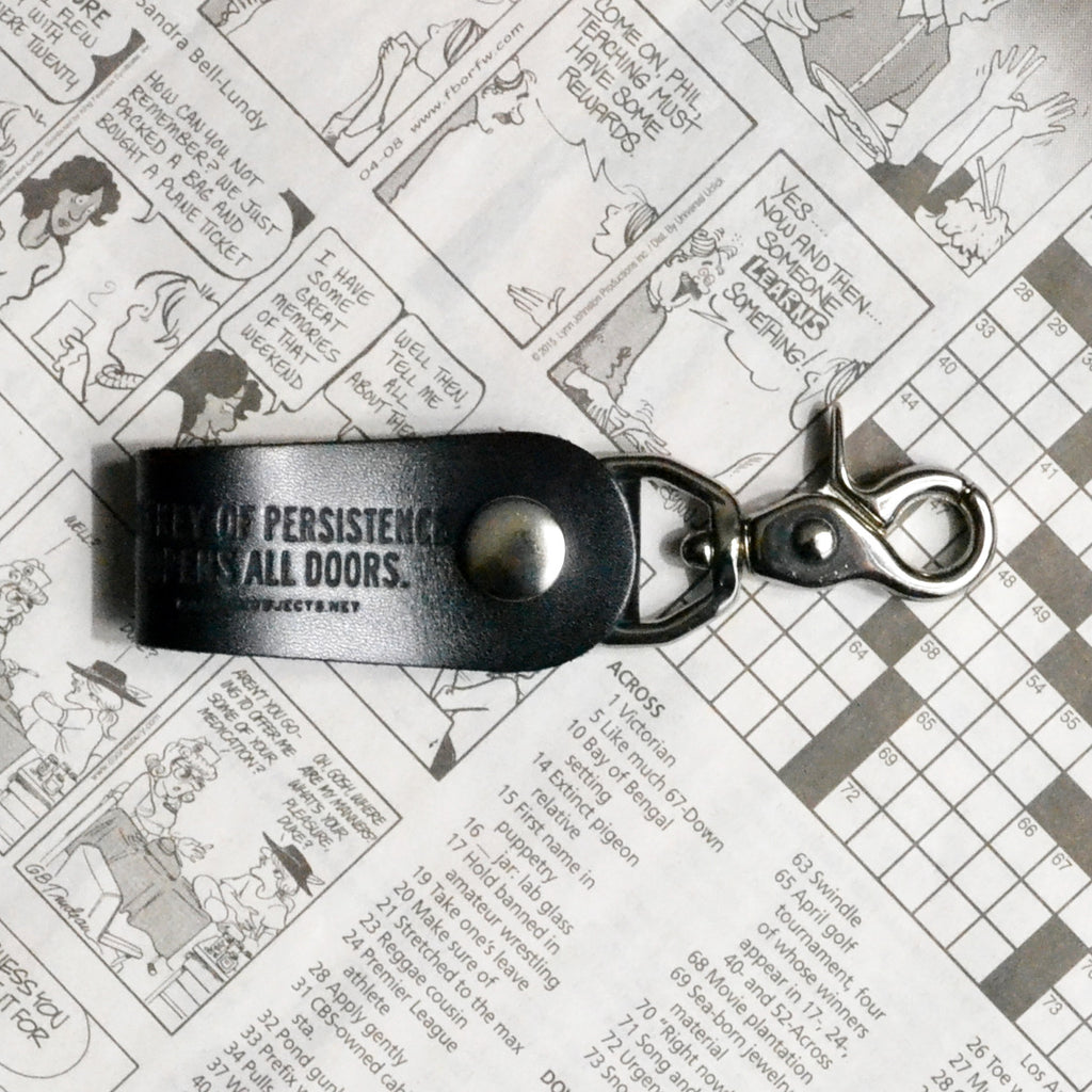 """PERSISTANCE"" LEATHER KEYCHAIN"
