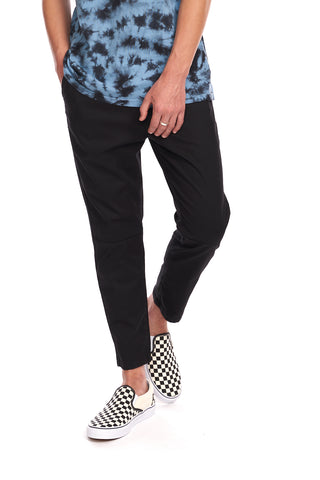 Cropped Ankle Chino - Black