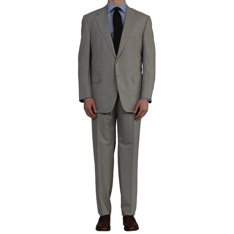 D'AVENZA Handmade Gray Wool Business Suit EU 56 NEW US 46