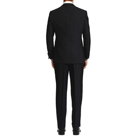 D'AVENZA For VICTOR TALBOTS NY Handmade Black Wool Silk Suit NEW