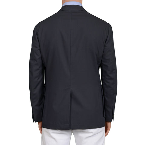 D'AVENZA Roma Handmade Dark Blue Wool Jacket Sport Coat EU 50 NEW US 40