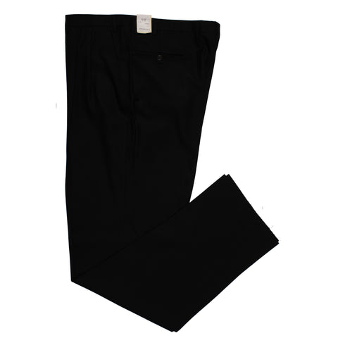 D'AVENZA Roma Black Wool DP Dress Pants NEW Classic Fit