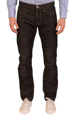 "ROGUE TERRITORY RGT ""Black Warp"" Denim Slim Straight Selvedge Jeans NEW 32"