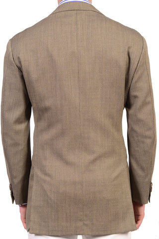 RUBINACCI LH Hand Made Bespoke Solid Taupe Wool Jacket EU 52 US 42 - SARTORIALE - 2