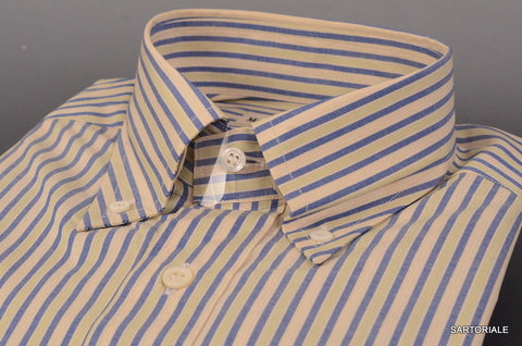 RUBINACCI Napoli Blue-Green Cotton Dress Shirt 37 NEW 14.5 Classic Fit - SARTORIALE - 2