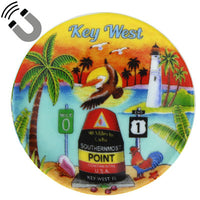 Key West Sunset Magnet 2.5""