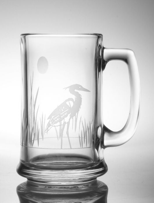 Heron Beer Mug 16oz (Set of 4)